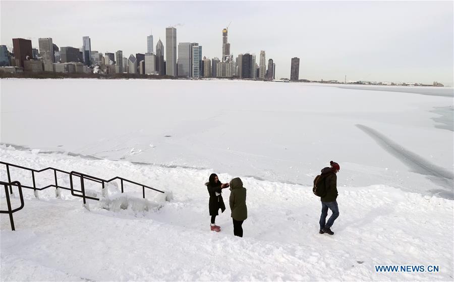 US-CHICAGO-COLD天气