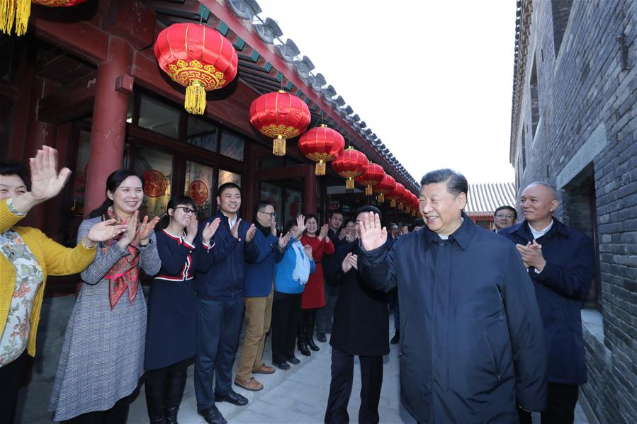 CHINA-BEIJING-XI JINPING-LUNAR NEW YEAR-VISIT (CN)