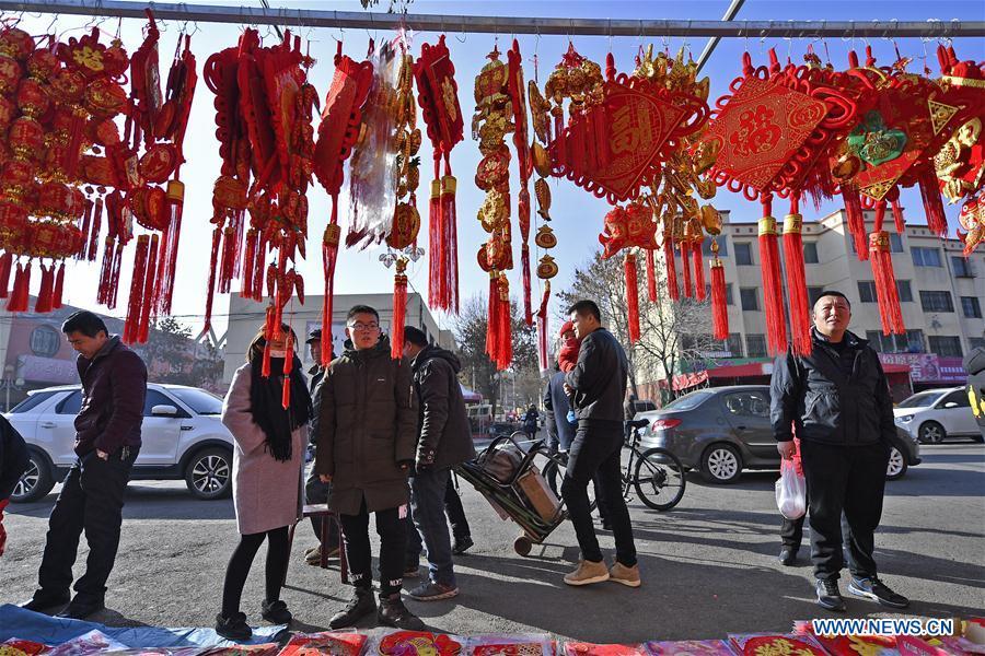 CHINA-YINCHUAN-SPRING FESTIVAL-PREPARATION (CN)