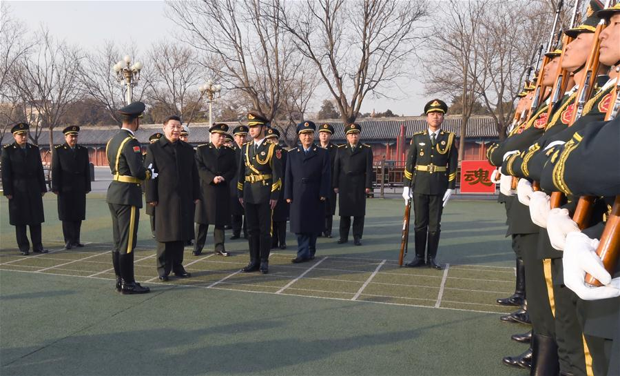 CHINA-BEIJING-SERVICEMEN-SPRING FESTIVAL-VISIT (CN)