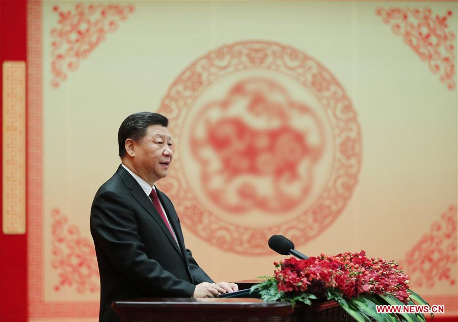 CHINA-BEIJING-TOP LEADERS-SPRING FESTIVAL-RECEPTION (CN)