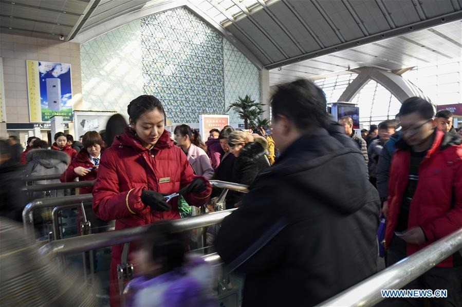 CHINA-SPRING FESTIVAL HOLIDAY-RAILWAY TRIPS (CN)
