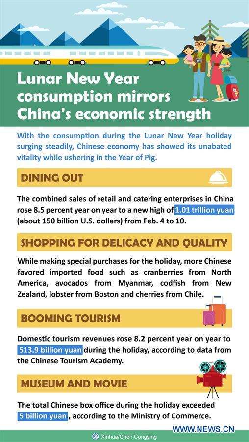 Xinhua Headlines: Lunar New Year consumption mirrors China's economic strength