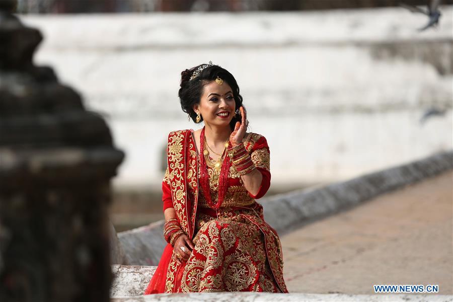 NEPAL-KATHMANDU-VALENTINE'S DAY-EVE