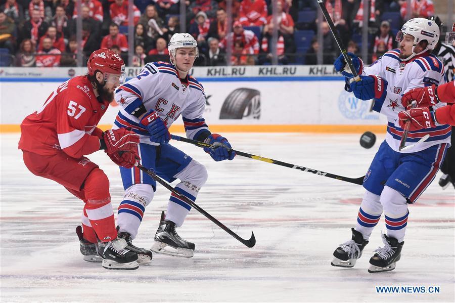 (SP)RUSSIA-MOSCOW-ICE HOCKEY-KHL-SPARTAK VS SKA