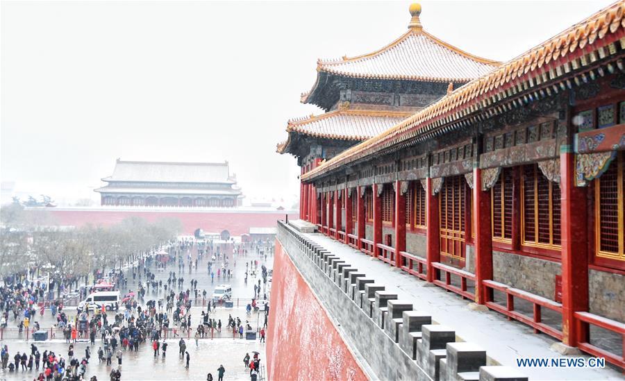 (InPalaceMuseum)CHINA-BEIJING-PALACE MUSEUM-SNOW (CN)