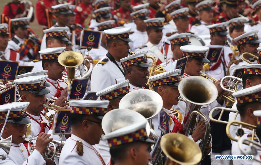尼泊尔 - 加德满都国家民主日 - 庆祝活动