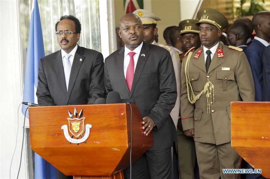 Burundian president meets with Somali counterpart in Bujumbura