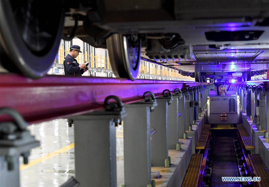 CHINA-HENAN-TRAVEL RUSH-BULLET TRAIN-MAINTENANCE-ROBOT(CN)