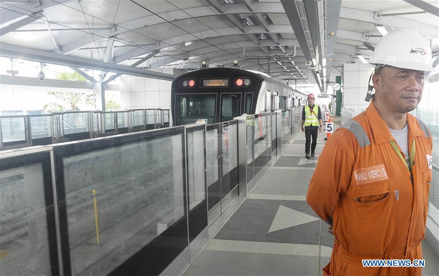 Mrt Train Starts Trial Operation For Media In Jakarta Indonesia