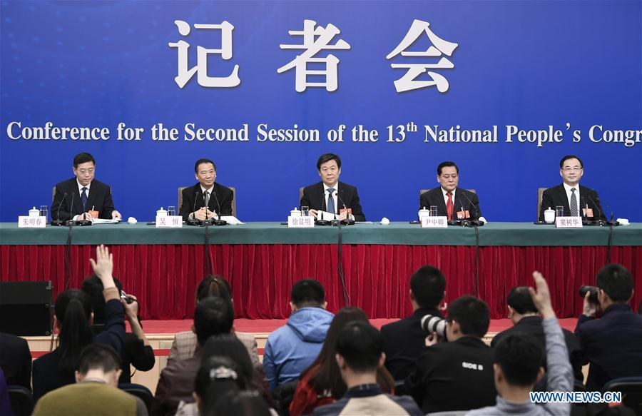 (TWO SESSIONS)CHINA-BEIJING-NPC-PRESS CONFERENCE (CN)