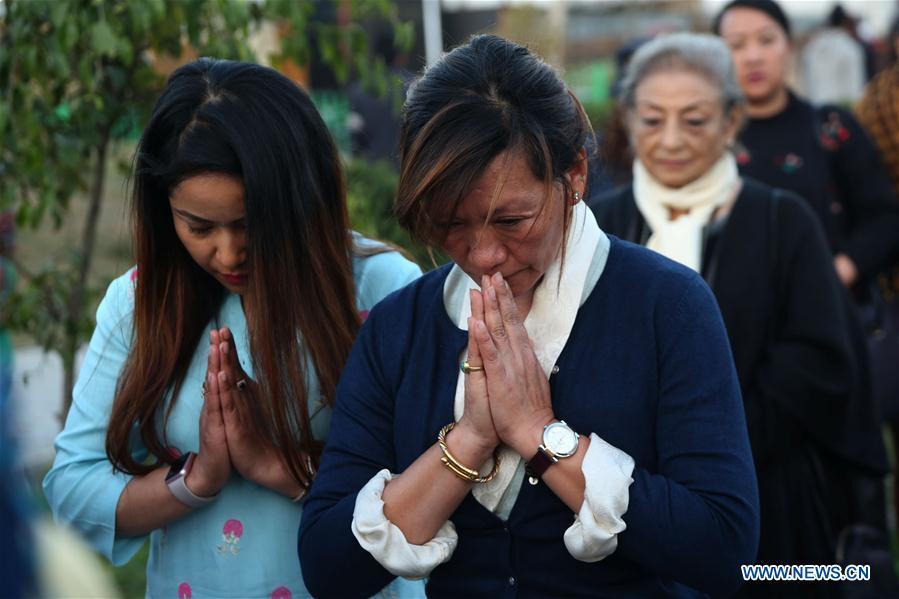 NEPAL-KATHMANDU-HELICOPTER CRASH-CANDLELIGHT VIGIL
