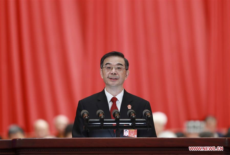 (两会)中国 - 北京 - 全国人大 - 第三次全体会议 - 周强(中国)