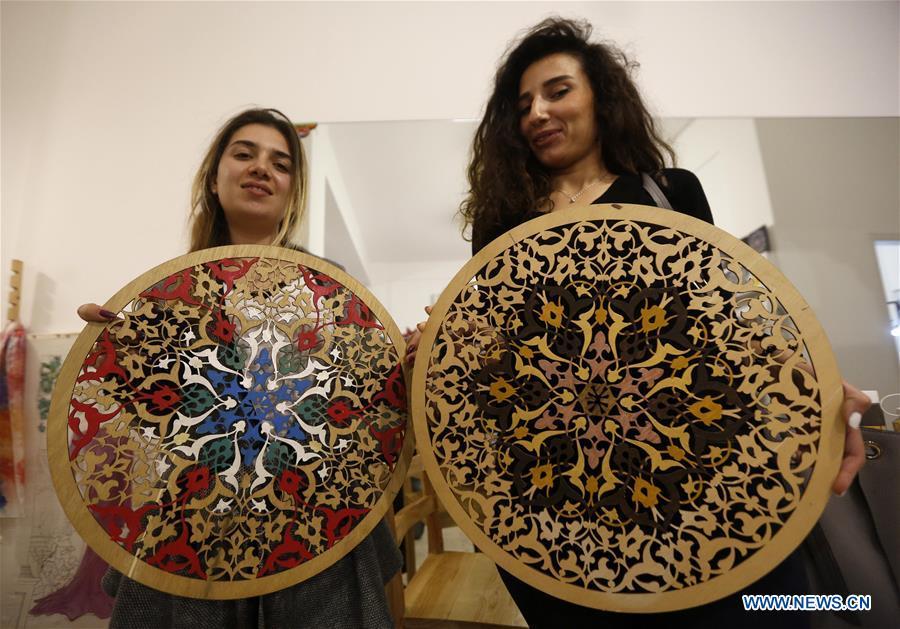 Wood Mandala Coloring Event Held In Beirut Lebanon Xinhua English News Cn