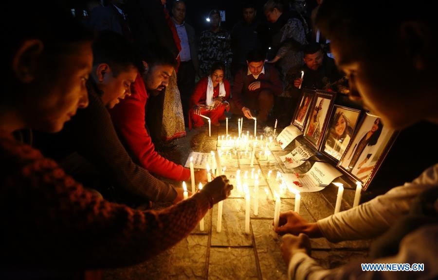 NEPAL-KATHMANDU-CANDLE LIGHT-US-BANGLA PLANE-CRASH