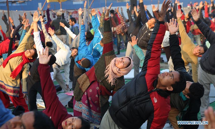 NEPAL-KATHMANDU-YOGA实践