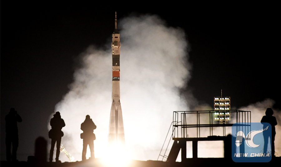 Russia successfully launches manned spacecraft for space station
