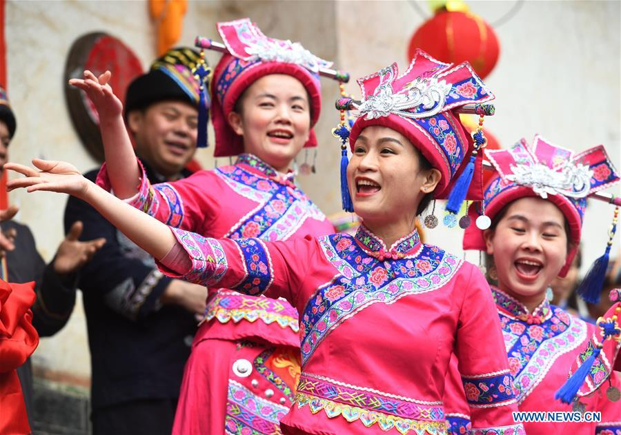 #CHINA-GUANGXI-LUOCHENG-MULAO ETHNIC GROUP-TRADITIONAL WEDDING (CN)