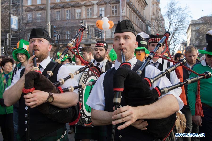 匈牙利 - 布达佩斯 - 圣帕特里克节庆祝活动