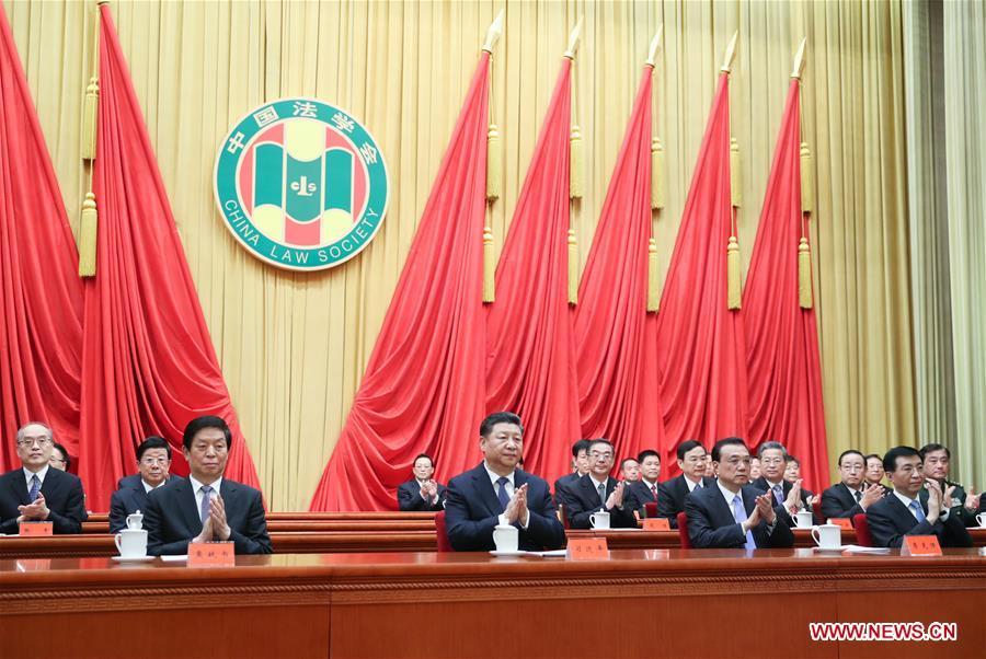 Xi congratulates China Law Society congress - Xinhua