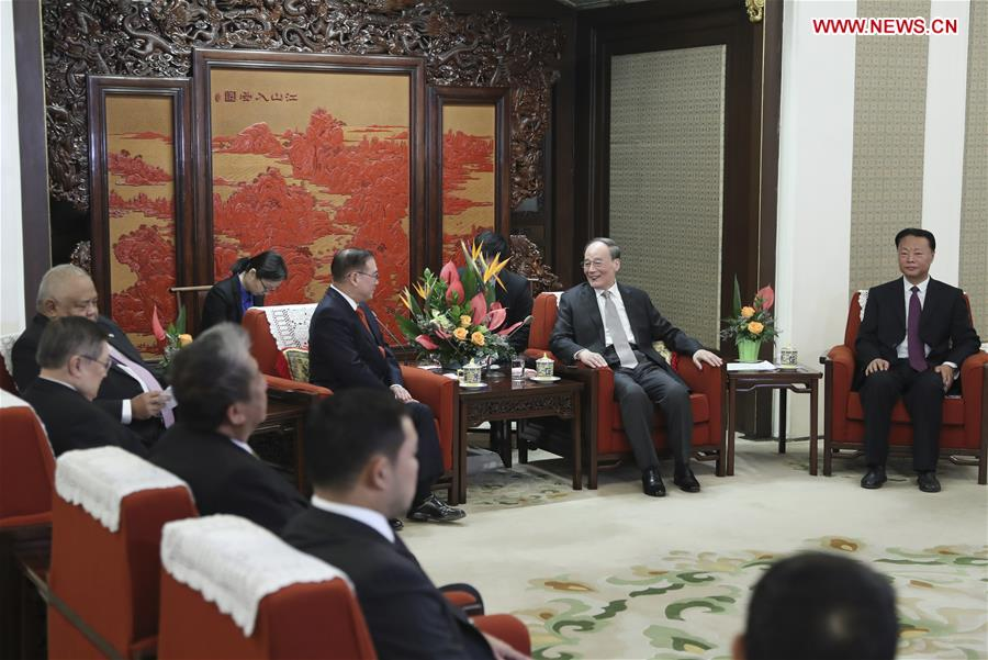 CHINA-BEIJING-WANG QISHAN-PHILIPPINE DELEGATION-MEETING (CN)
