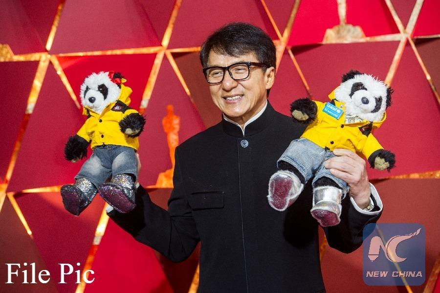 "Jackie Chan films new action movie ""Vanguard"" in Dubai"