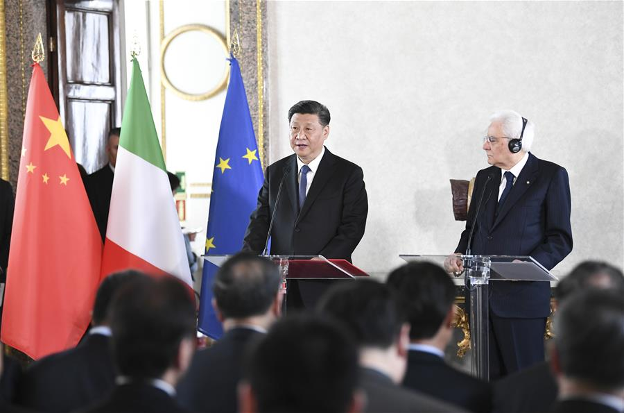 ITALY-ROME-XI JINPING-ITALIAN PRESIDENT-PERSONAGES-MEETING