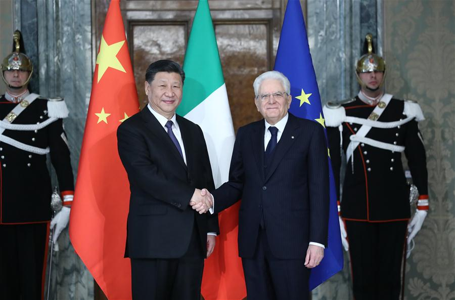 ITALY-ROME-XI JINPING-SERGIO MATTARELLA-TALKS