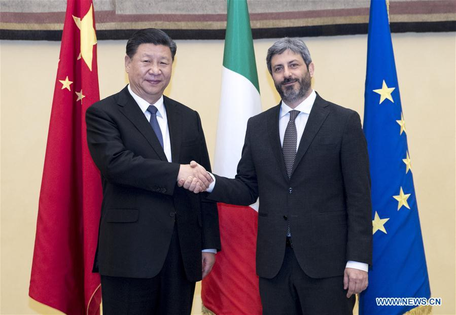 ITALY-ROME-XI JINPING-LOWER HOUSE SPEAKER-MEETING