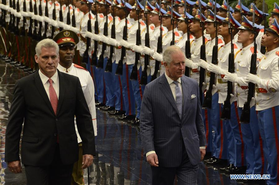 Britain's Prince Charles, Cuban president vow to strengthen ties - Xinhua