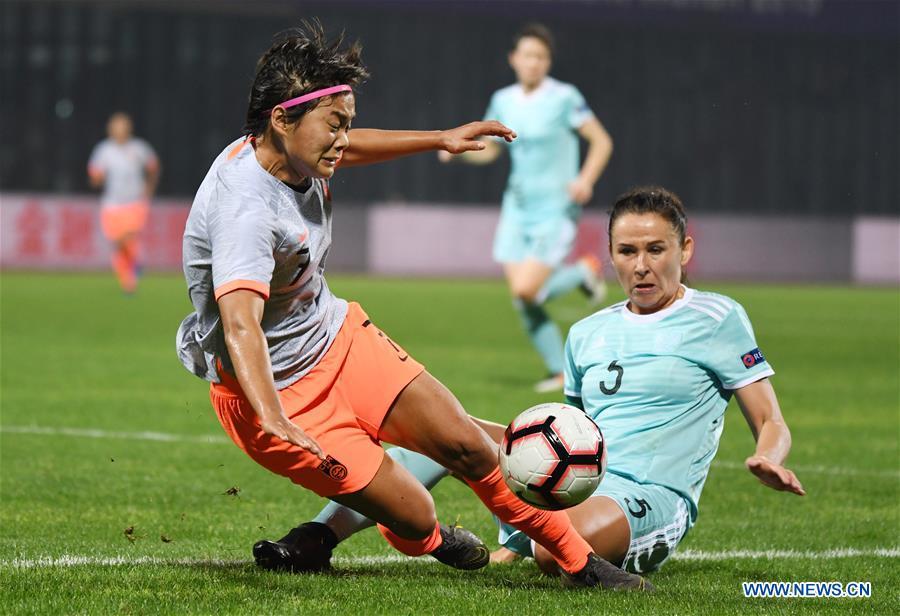 (SP)CHINA-WUHAN-FOOTBALL-INTERNATIONAL WOMEN'S FOOTBALL TOURNAMENT WUHAN 2019-CHINA VS RUSSIA (CN)