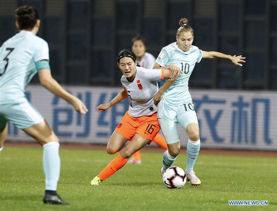 (SP)CHINA-WUHAN-FOOTBALL-INTERNATIONAL WOMEN'S FOOTBALL TOURNAMENT WUHAN 2019-CHINA VS RUSSIA (CN)