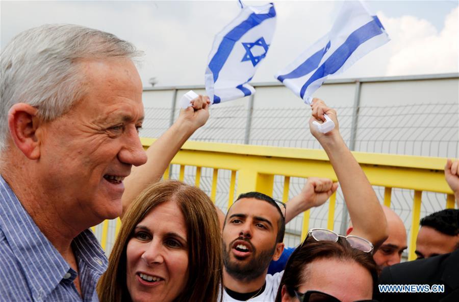 以色列 - 重新武装选举竞选活动 - 本尼甘茨