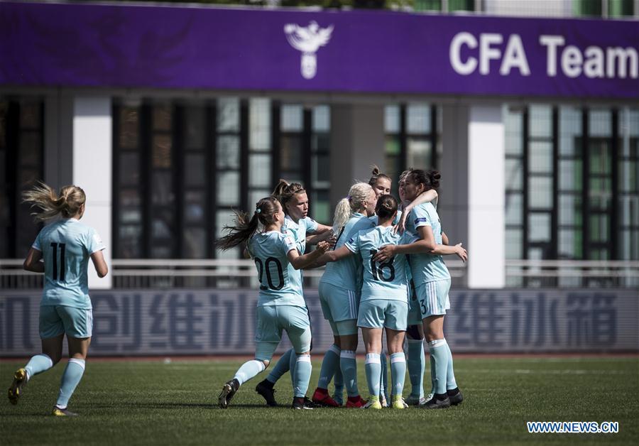 (SP)CHINA-WUHAN-FOOTBALL-INTERNATIONAL WOMEN'S FOOTBALL TOURNAMENT WUHAN 2019-3RD PLACE FINAL-RUSSIA VS CROATIA