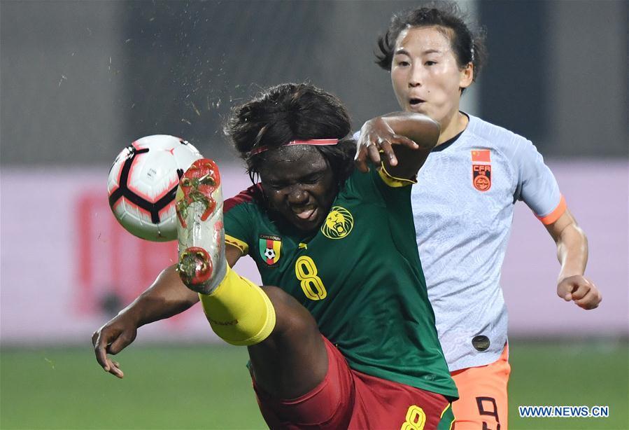 (SP)CHINA-WUHAN-FOOTBALL-INTERNATIONAL WOMEN'S FOOTBALL TOURNAMENT WUHAN 2019 FINAL-CHINA VS CAMEROON