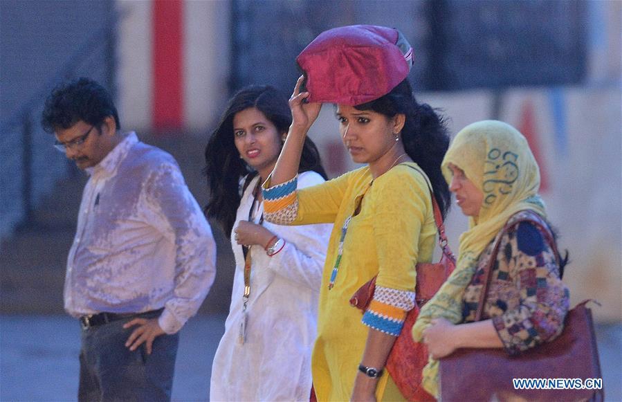 INDIA-BANGALORE-WEATHER-RAIN