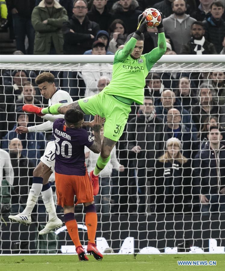 Tottenham Hotspur Beats Manchester City 1 0 At Uefa Champions League Quarterfinal Xinhua English News Cn