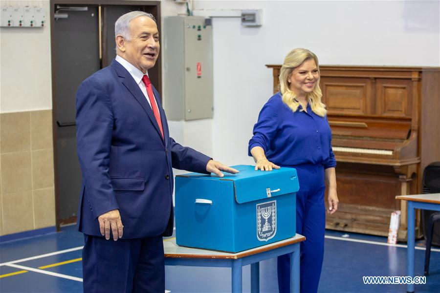 MASTAST-JERUSALEM-ELECTION-ISRAELI PM-VOTE