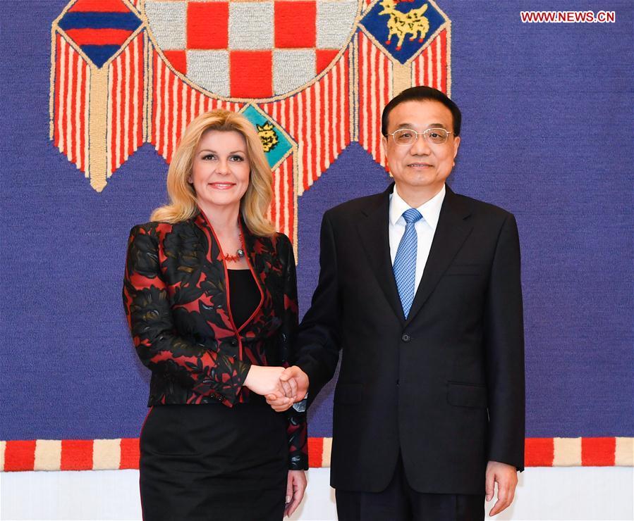 CROATIA-ZAGREB-CHINA-LI KEQIANG-PRESIDENT-MEETING