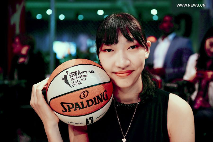 (SP)US-NEW YORK-BASKETBALL-WNBA DRAFT-CHINA的韩旭