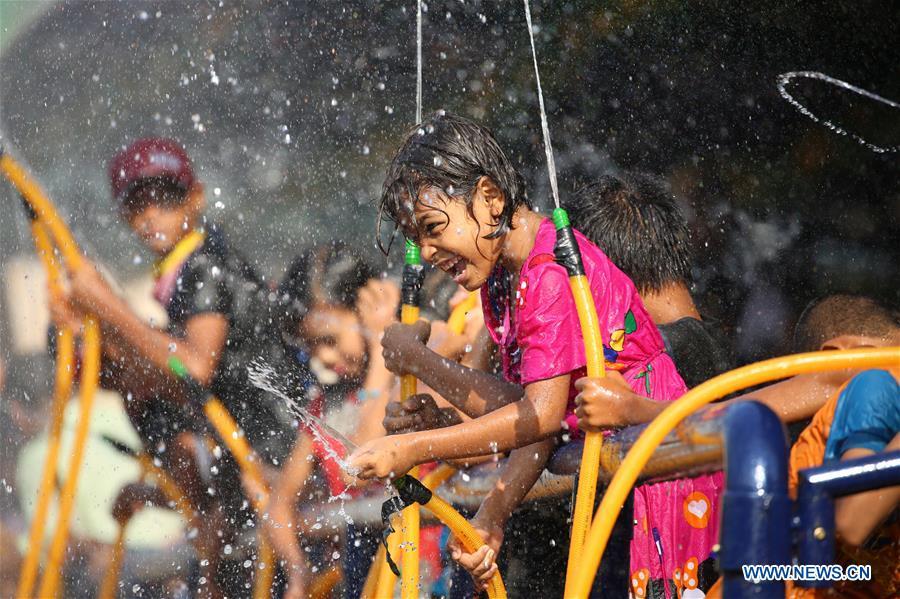 MYANMAR-YANGON-TRADITIONAL WATER FESTIVAL