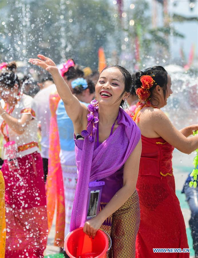 CHINA-YUNNAN-JINGGU-WATER SPLASHING FESTIVAL (CN)