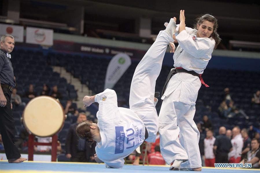 Highlights of 2019 European Karate Championship in Vilnius - Xinhua