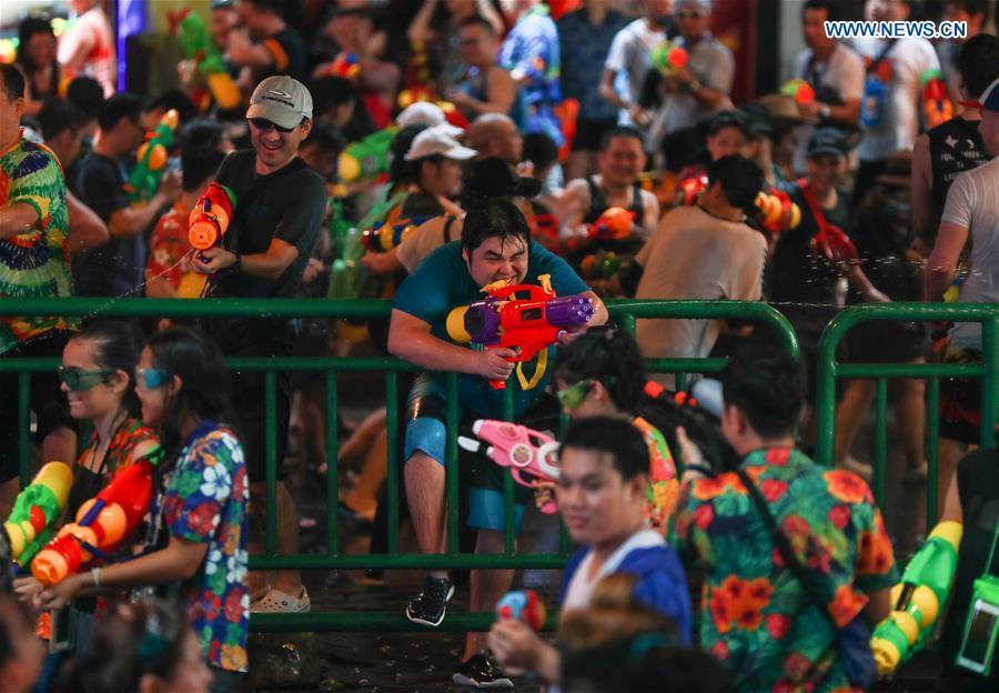 THAILAND-BANGKOK-SONGKRAN FESTIVAL-WATER FIGHT