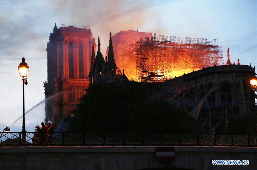 FRANCE-PARIS-NOTRE DAME CATHEDRAL-FIRE
