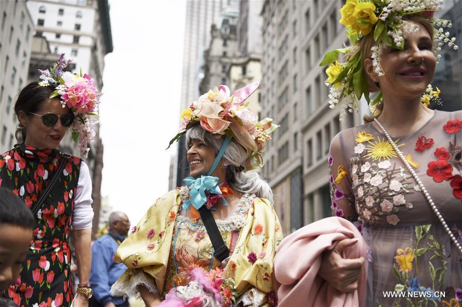U.S.-NEW YORK-EASTER PARADE-BONNET FESTIVAL