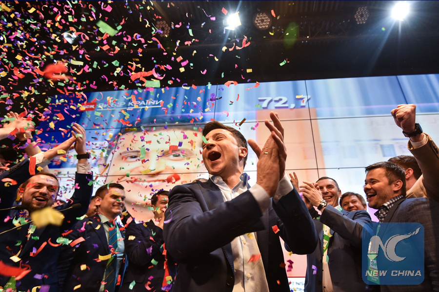 Zelensky wins Ukraine's presidential election
