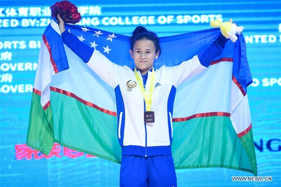 亚洲举重锦标赛女子举重55公斤级比赛