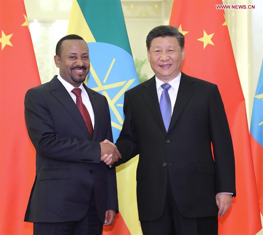 (BRF)CHINA-BEIJING-BELT AND ROAD FORUM-XI JINPING-ETHIOPIAN PM-MEETING (CN)
