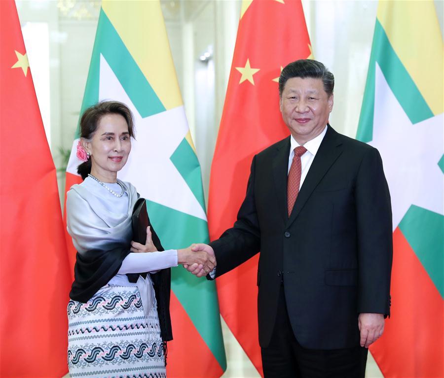 Xi meets Myanmar's State Counselor Aung San Suu Kyi - Xinhua